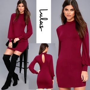 Lulu's Midnight in Paris Wine Red Wine Long Sleeve